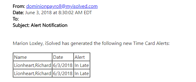 employee alerts